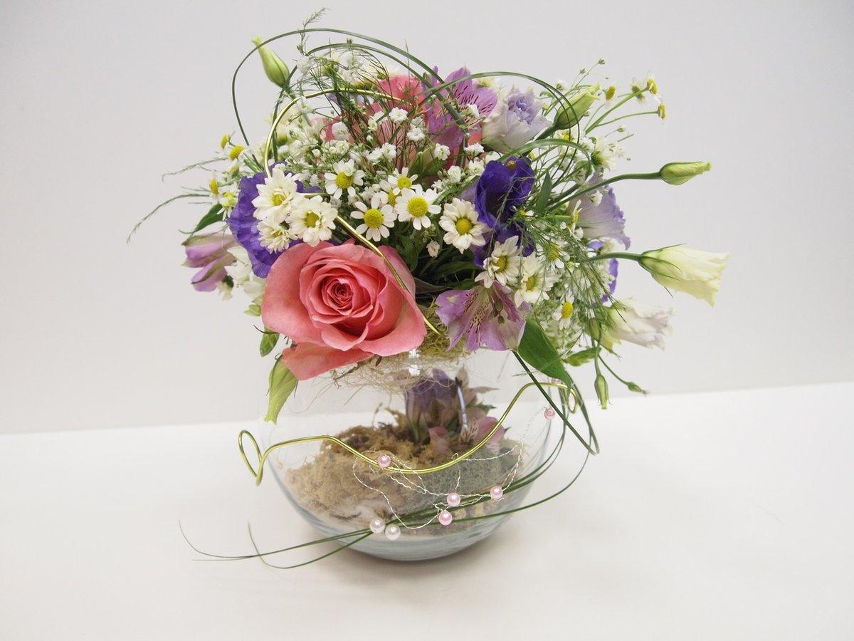 Как сделать цветочную композицию с оазисом
