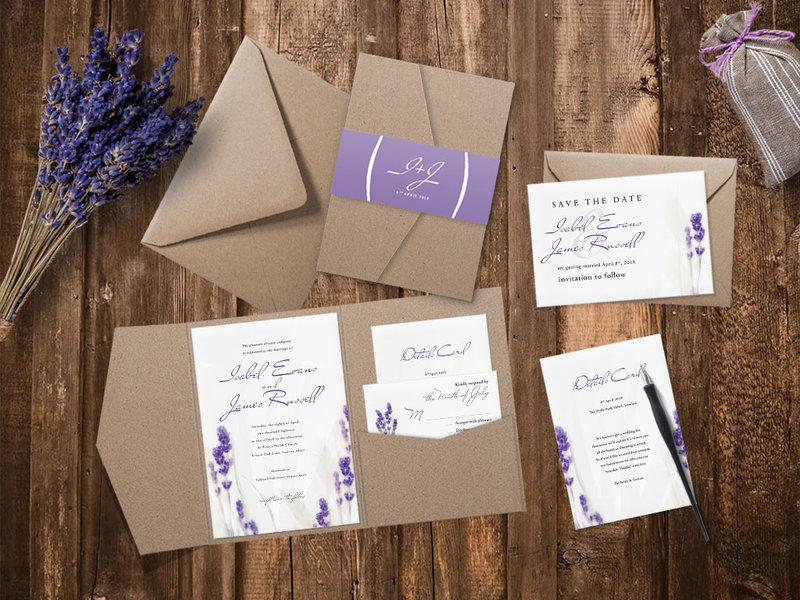 Пригласительные на свадьбу прованс