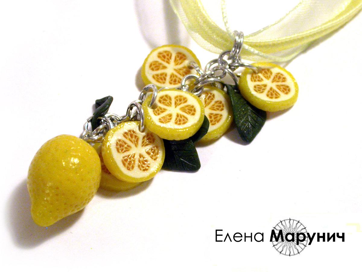 Лимоны из полимерной глины своими руками