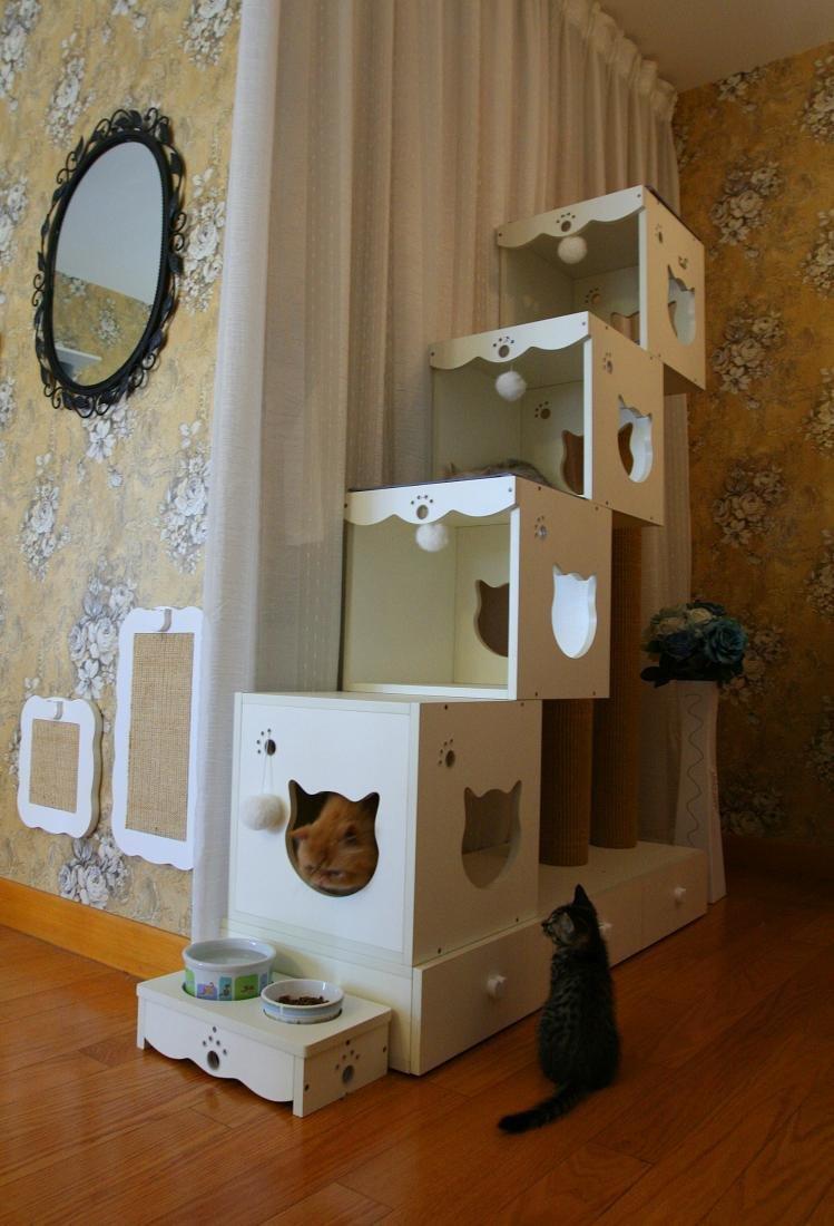 Многоуровневый кошачий домик своими руками 87