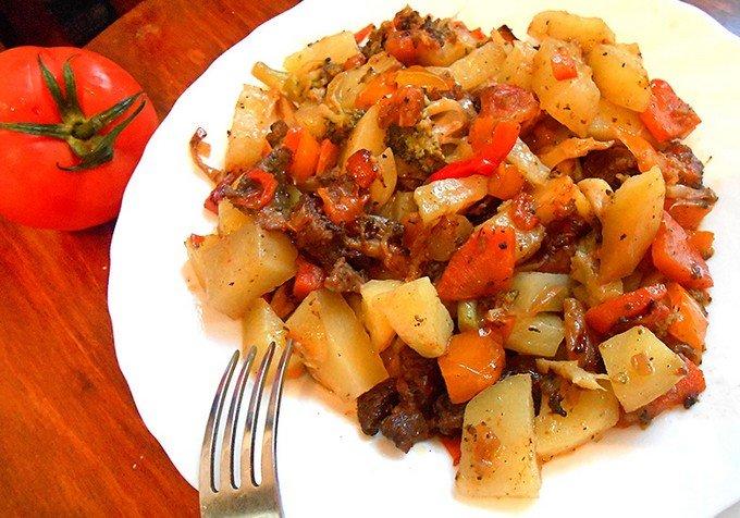 Рецепт овощей с кабачком