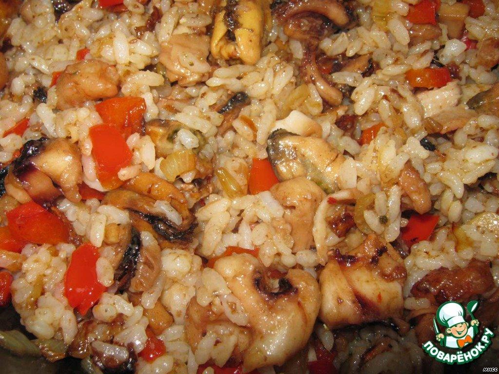 Приготовить морепродукты с рисом рецепт 118