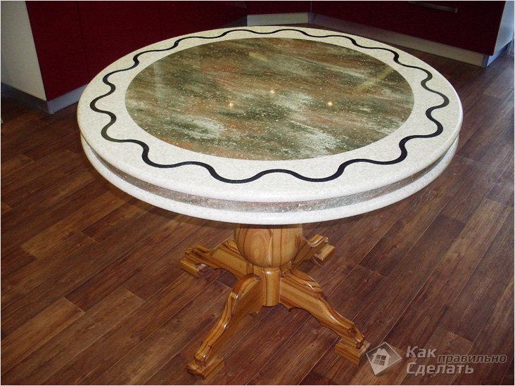 Как сделать круглую столешницу