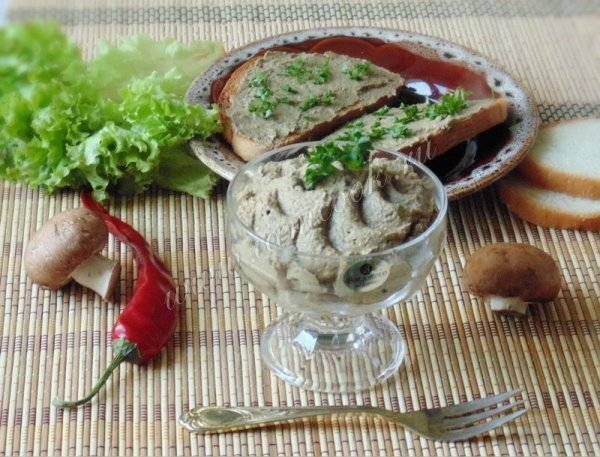 Куриный паштет с грибами в домашних условиях рецепт с фото