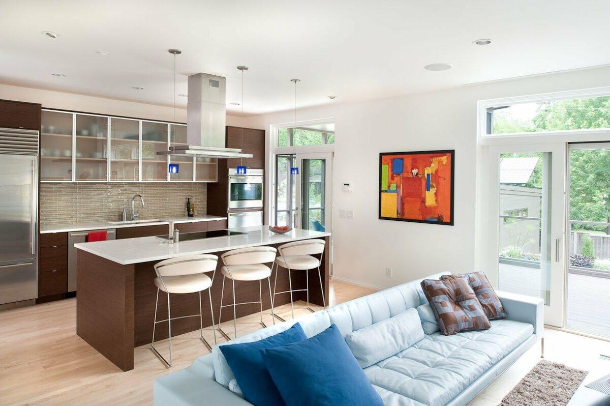 Реальные фото кухни гостиной дизайн фото реальные