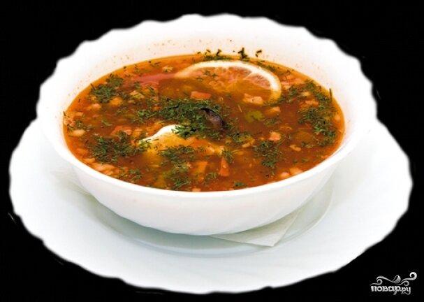 Солянка в мультиварке с колбасой рецепт с фото пошагово