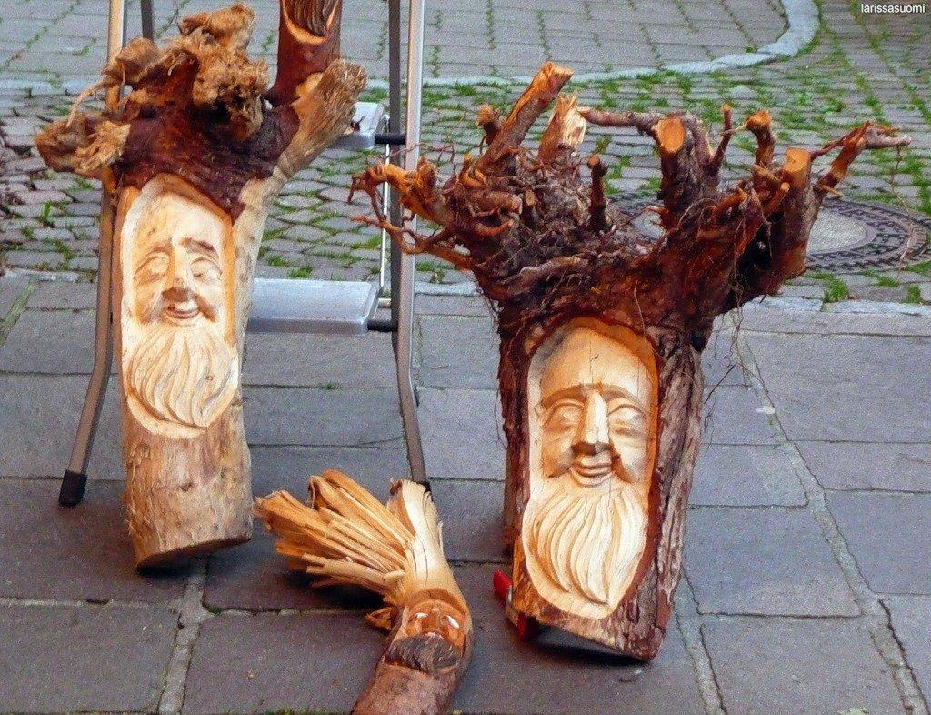 Поделки из ствола дерева