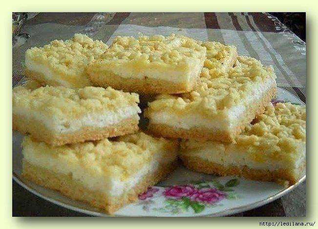 Простой и быстрый пирог с творогом рецепт с