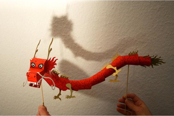 Китайские драконы своими руками из бумаги