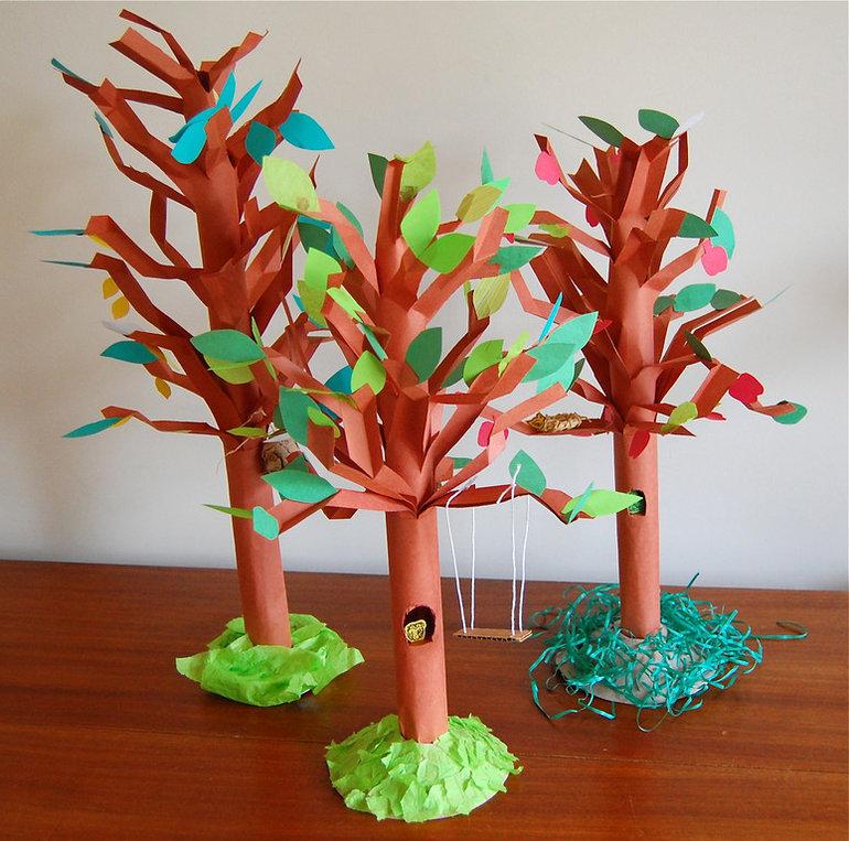 Сделать деревья своими руками с детьми