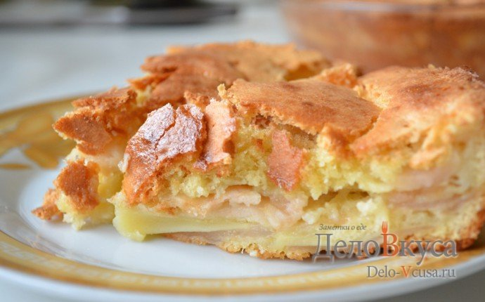 Песочная шарлотка с яблоками рецепт с пошагово в духовке