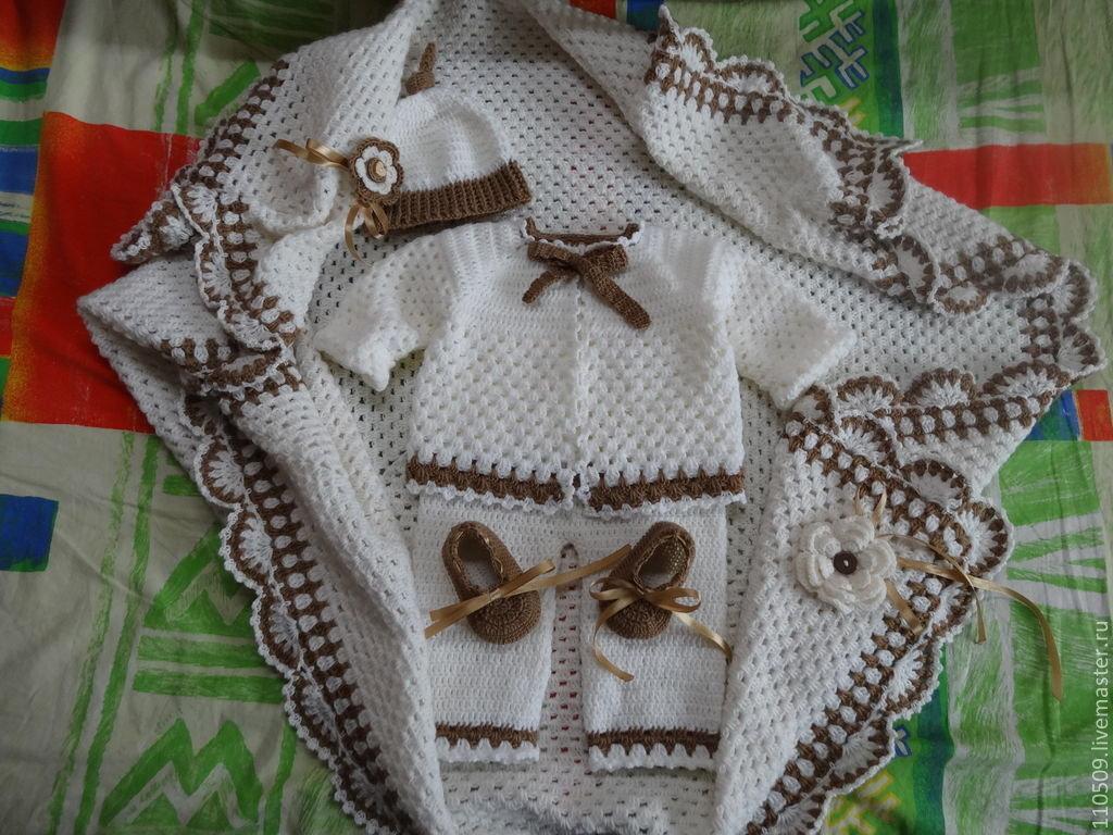 Вязание для новорожденных крючком с фото 402