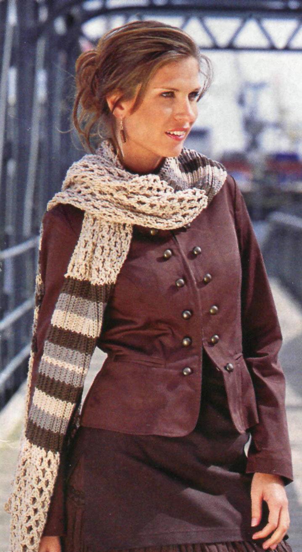 Вязание красивые женские шарфы 74