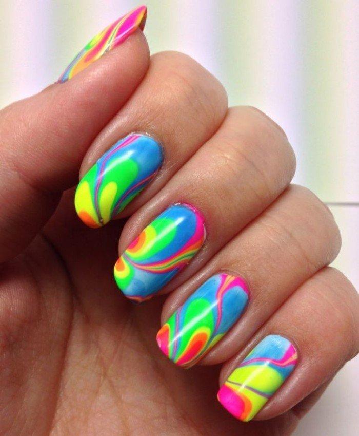 Ногти дизайн летний яркий