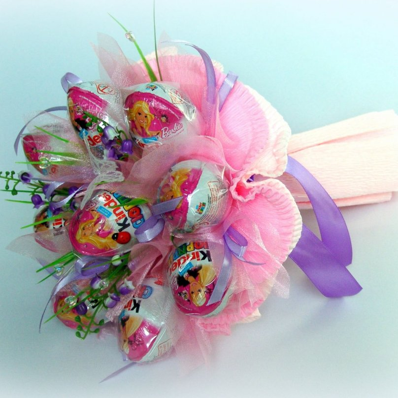 Как сделать маленький букет из конфет своими руками 77