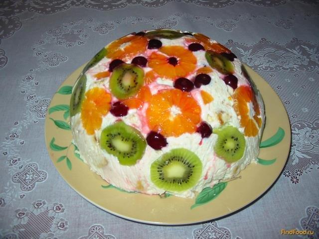 Рецепт торта с фруктами с пошагово