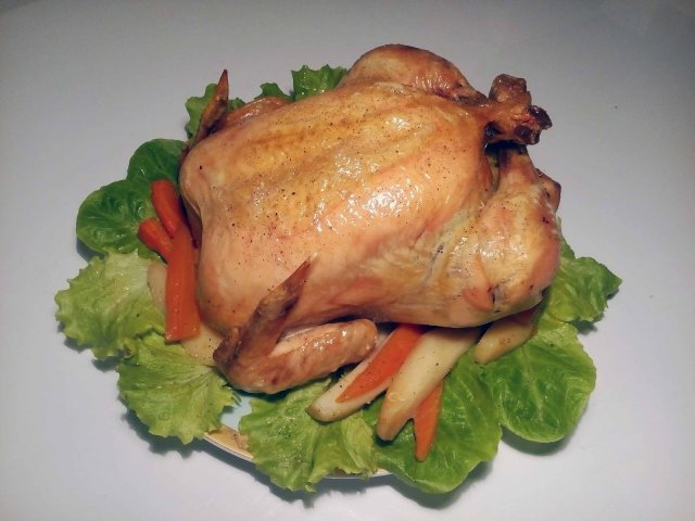 Курица запеченная с рецепт с пошагово