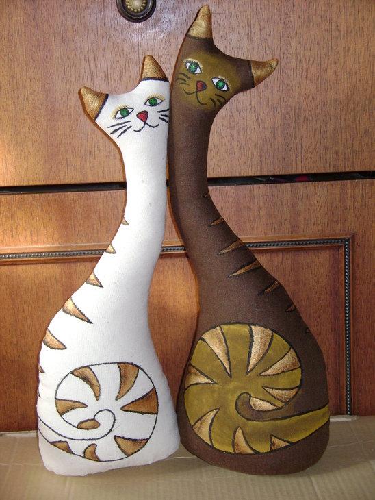 Интерьерные игрушки своими руками интерьерные котики