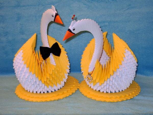 Лебедь из оригами своими руками 14