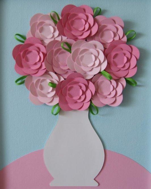 Поделка из бумаге цветы видео