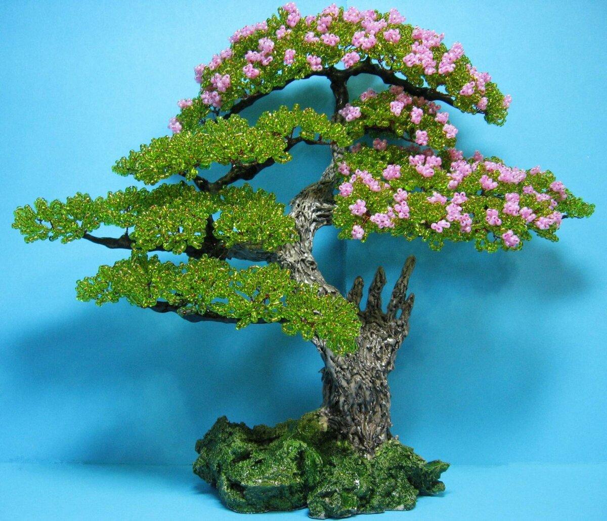 Дерево из бисера своими руками бонсай из бисера