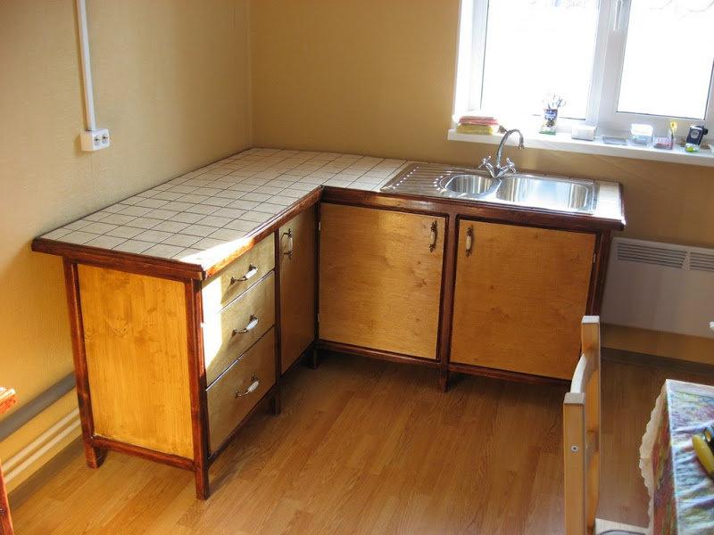Кухонная мебель для дачи своими руками из дерева