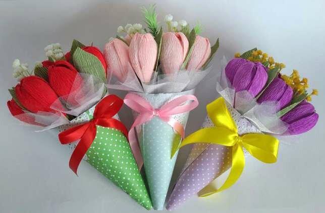 Букет тюльпанов из конфет своими руками пошаговое