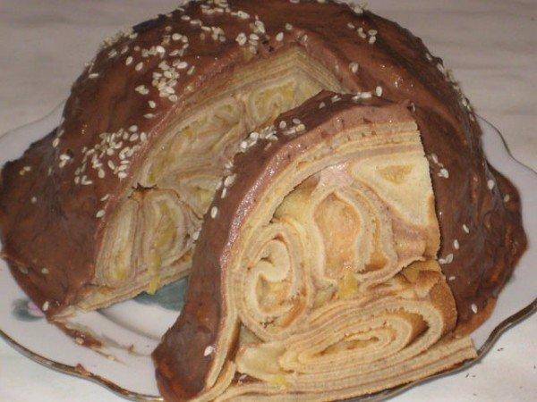 Рецепт блинного торта с фото пошагово в домашних условиях