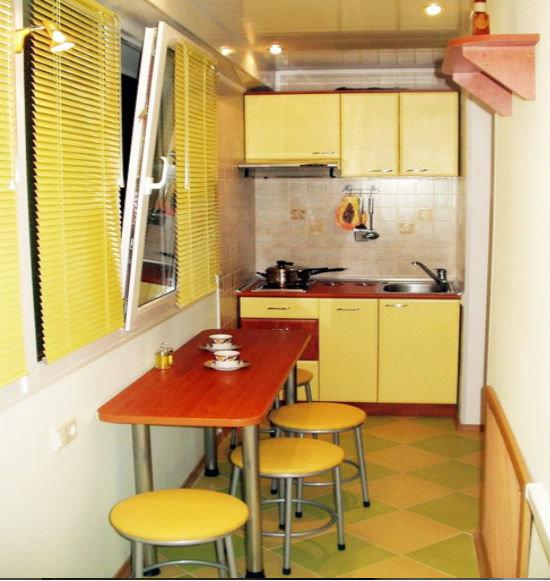 Как сделать кухню на балконе, 28 фото примеров, спальня на б.
