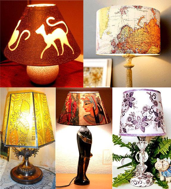 Как украсить светильник дома своими руками