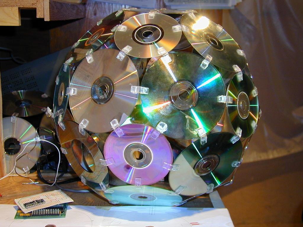 Поделки для дачи из сд дисков своими руками фото 48