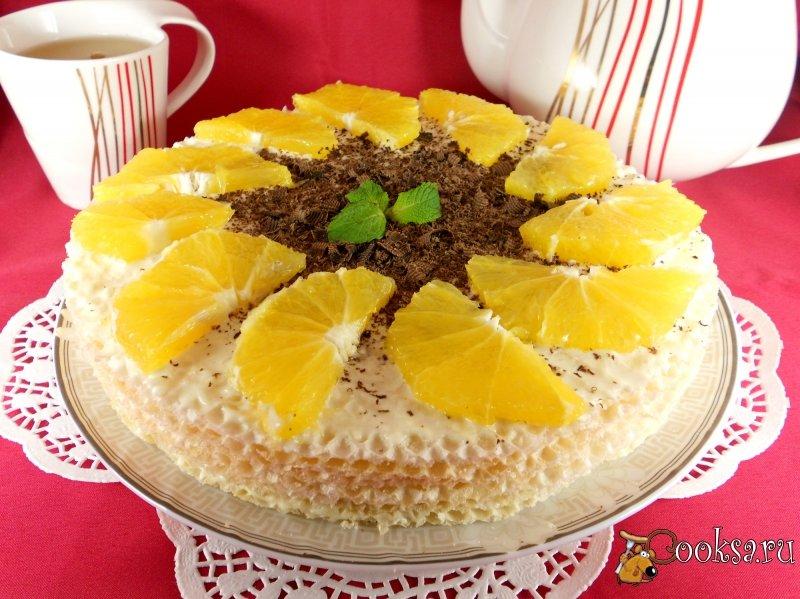 Рецепт торта из готовых коржей вафельных