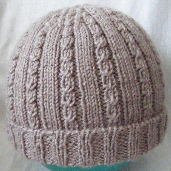 Вязание на спицах шапки мужские с отворотом