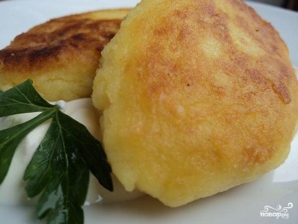 Котлеты из картофельного пюре пошаговый рецепт с