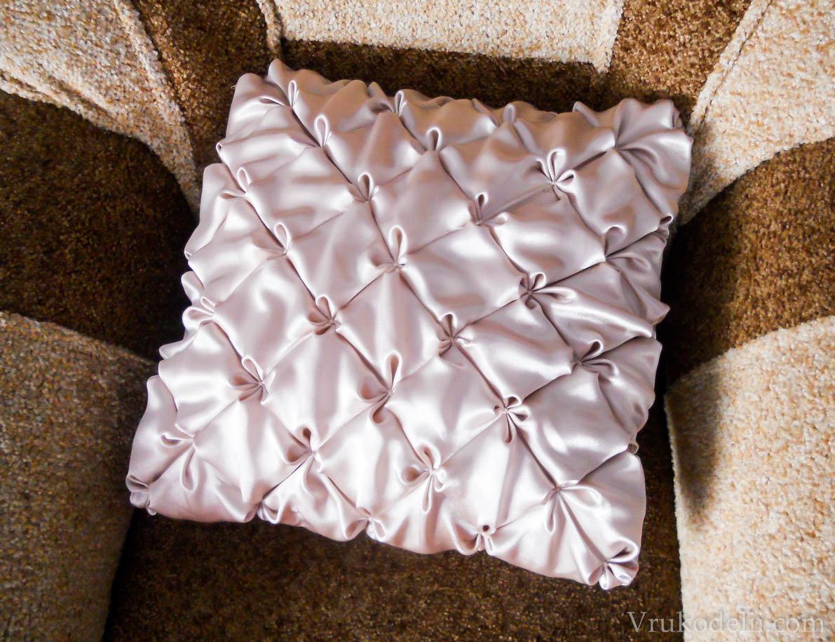 Декоративные подушки своими руками мастер класс фото 125