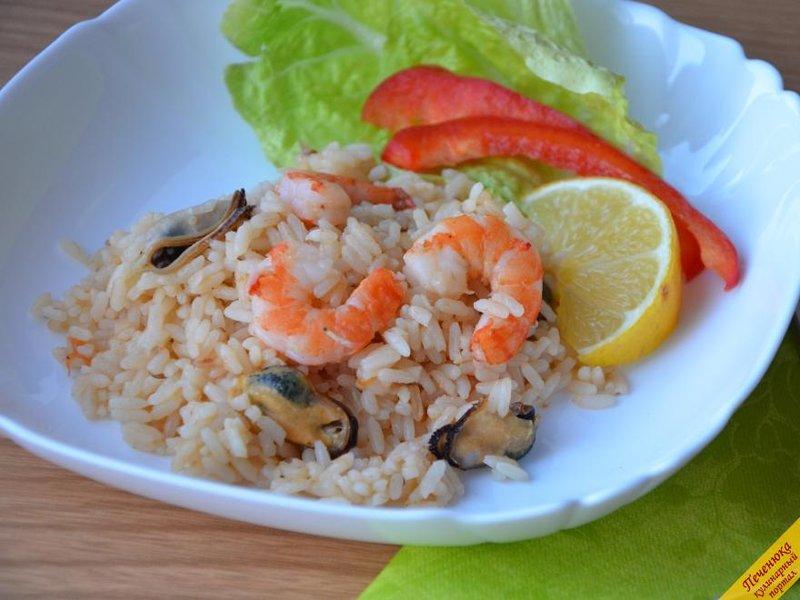 Салат с рисом и морепродуктами рецепт с