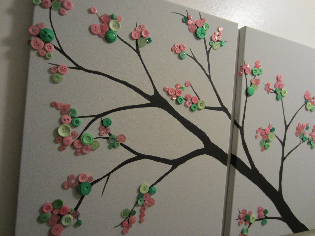 Картина на стену своими руками из подручных материалов фото