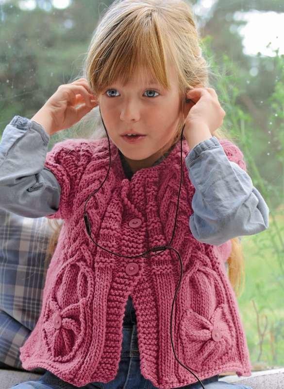 Кардиган для девочки 4 года вязание на спицах 521