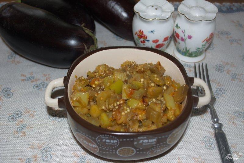 Рагу из баклажанов рецепт пошаговый с