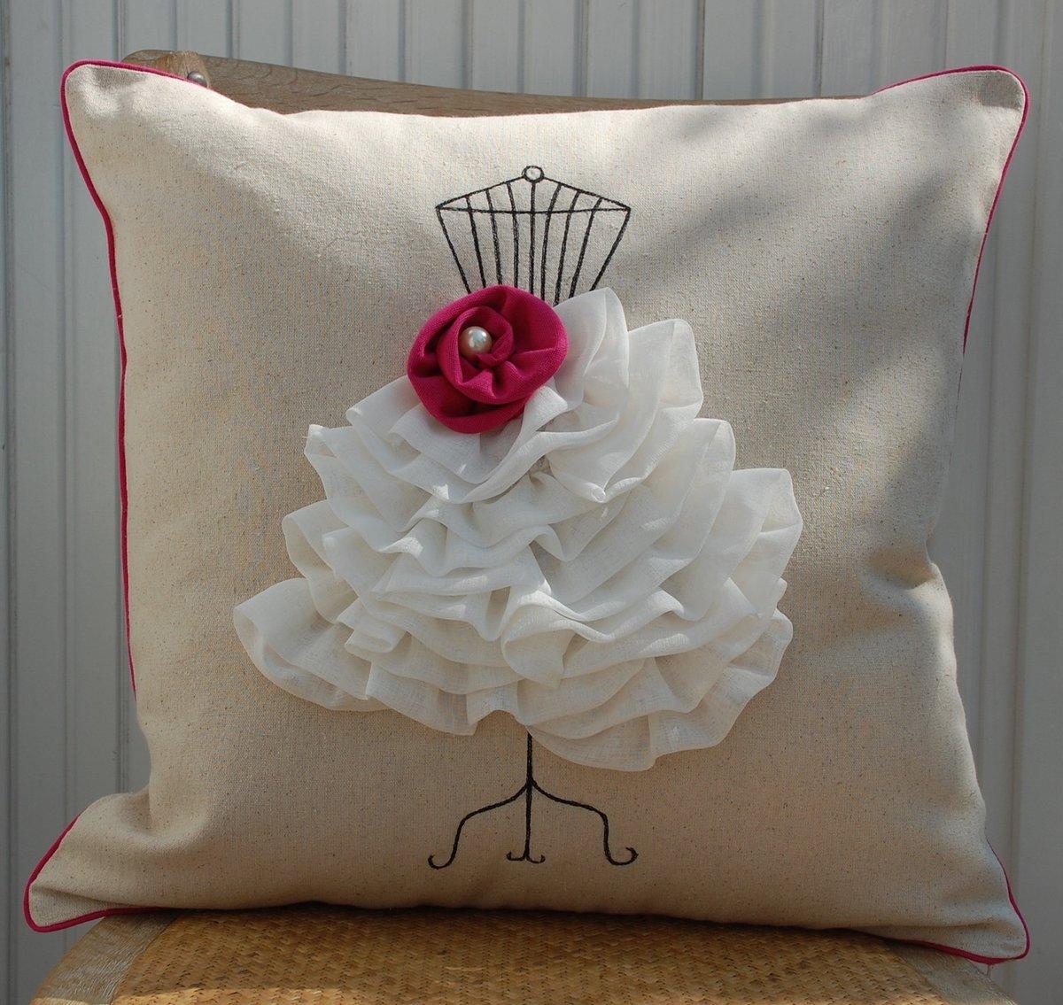 Сшить декоративную подушку своими руками мастер класс