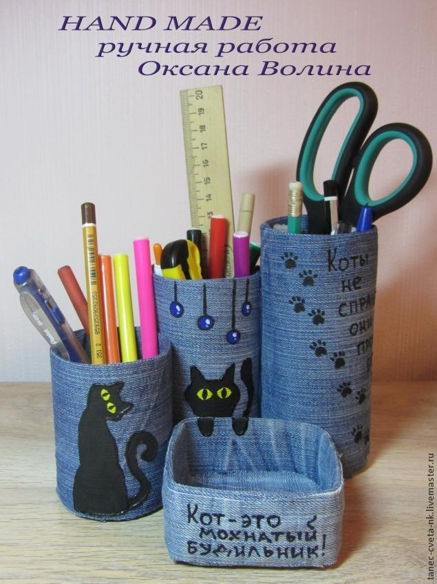 Органайзеры для ручек и карандашей своими руками