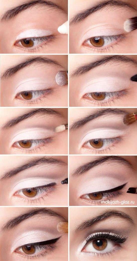 Макияж глаз светлыми тенями фото