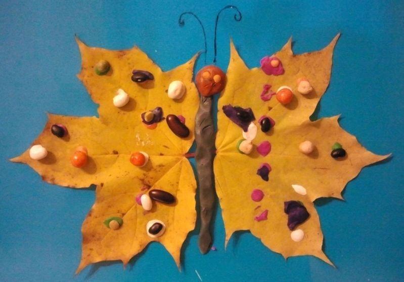Поделки из листьев своими руками фото 12