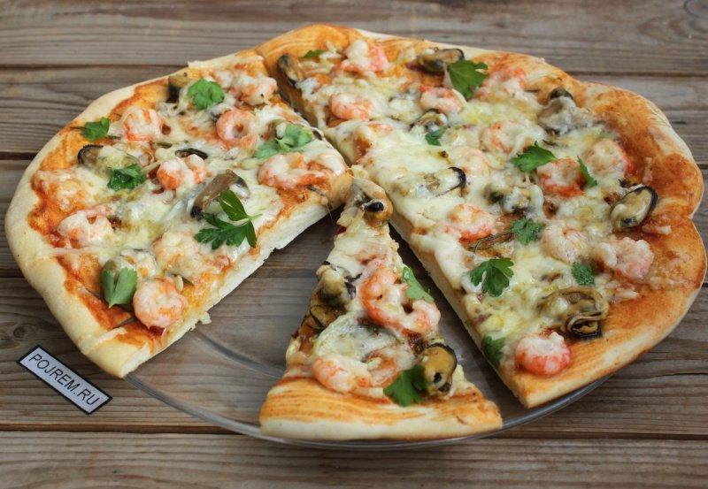 Рецепт пиццы с морепродуктами в домашних условиях в духовке