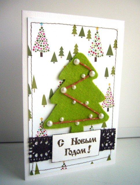 Как делать новогодние открытки своими руками для детей