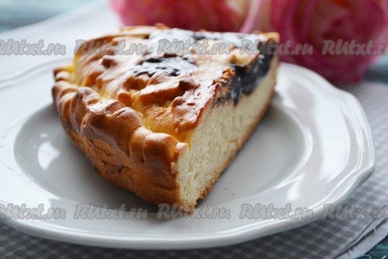 Вкусный дрожжевой пирог с вареньем рецепт с