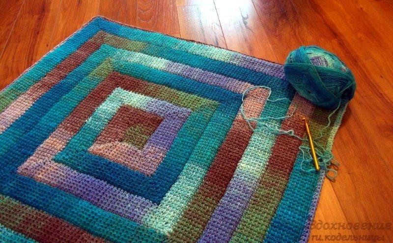 Вязание ковриков мастер