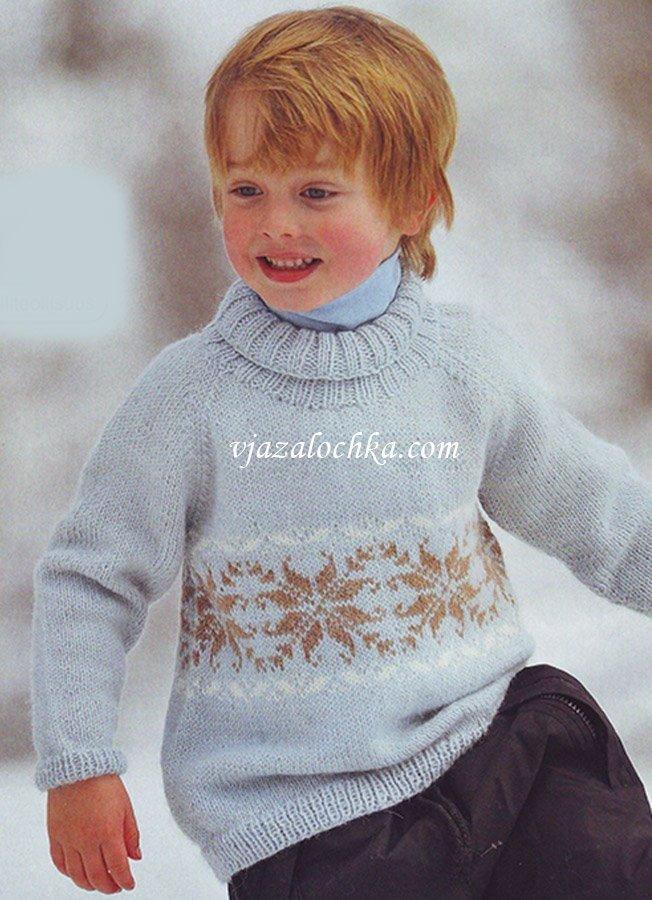Вязание спицами свитер для мальчика 5-6 лет 42