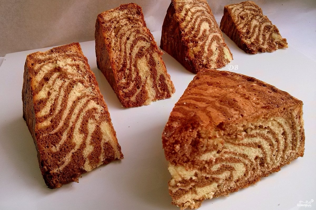 Как испечь пирог зебра рецепт