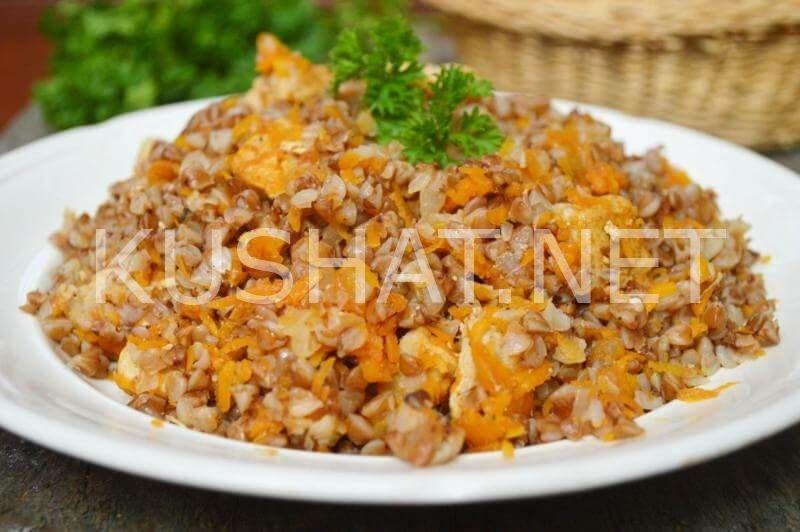 Тушеная гречка с мясом рецепт с пошагово